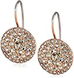 Fossil Glitz Disc Rose Gold-Tone Earrings