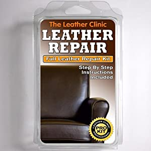 dark brown leather sofa chair repair kit for tears holes scuffs with