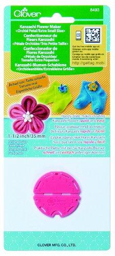 Clover 8493 Kanzashi Flower Maker Orchid Petal Quilt Pattern, X-Small