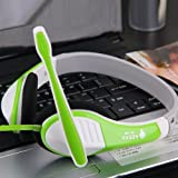 Ke-800 Candy Cute Adjustable Circumaural 3.5mm Over Ear Earphone Headphone with Microphone Mic and Wired Controlling for Pc Mp3 Mp4 Ipod Iphone Ipad Tablet (Green) for Xbox 360