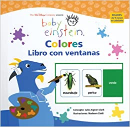 Amazon.com: Baby Einstein: Libro con ventanas: Colores: Baby Einstein