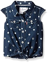 Levi\'s Baby Girls Shirt, Tailored Indigo, 3/6 Months