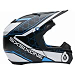 Six Six One Fenix Fusion Full Face Helmet GridBlack/Blue, S