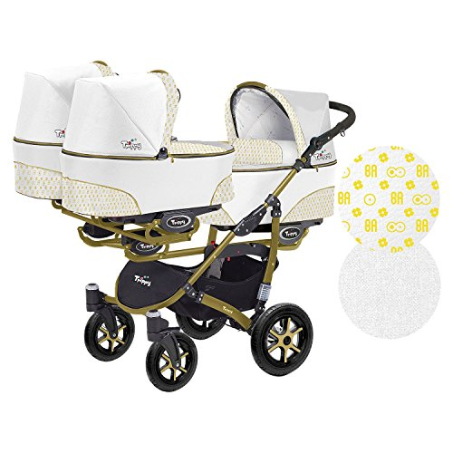 kinderwagen f r zwillinge und lteres kind 2 gondeln 3. Black Bedroom Furniture Sets. Home Design Ideas