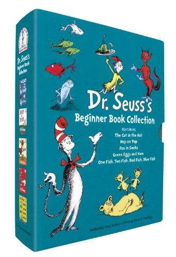 Dr. Seuss's Beginner Book Collection (Cat in the Hat, One Fish Two Fish, Green Eggs and Ham, Hop on Pop, Fox in Socks) - Dr. Seuss