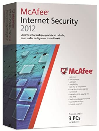 McAfee internet security 2012 (3 postes, 1 an) - mise à jour