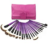EmaxDesign 24pcs Professional Makeup Brush Set Cosmetics Brushes With Rose Red Case