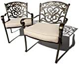 Lawn & Patio - Strathwood St. Thomas Cast-Aluminum Deep-Seating Arm Chair, Set of 2