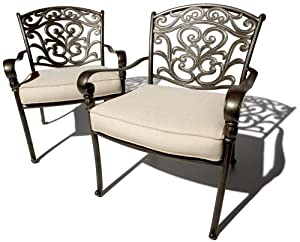 Review U0026 Best Price Strathwood St. Thomas Cast Aluminum Deep Seating Arm  Chair, Set Of 2 On Sale