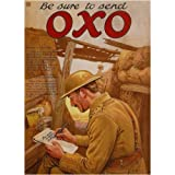 L1275 LARGE BE SURE TO SEND OXO METAL ADVERTISING WALL SIGN RETRO ART