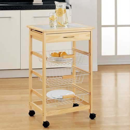 Organize It All Providence Kitchen Cart With Baskets Review