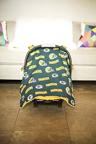 Carseat Canopy (NFL Green Bay Packers) Baby Infant Car Seat Cover