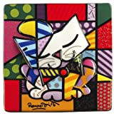 Romero Britto Porcelain Picture - Blue Cat