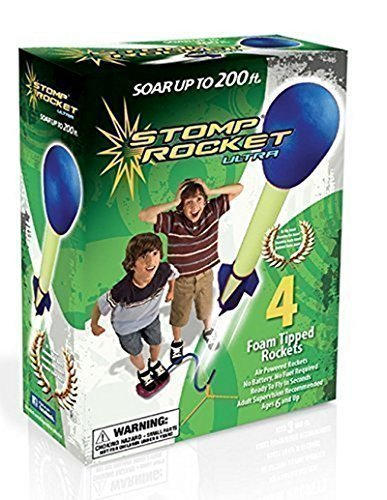 The Original Stomp Rocket: Ultra 4-Rocket Kit Blue Green