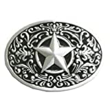 Western Lone Star Belt Buckle Black (Color: Mixed, Tamaño: Large)