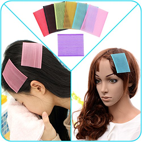 QY 7PCS Colorful Magic Bangs Hair Pad Square Hair Velcro Pad Hair Fringe Care Tool Makeup Accessories (Velcro Hair Clip compare prices)