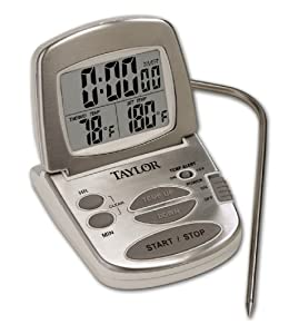 Taylor 1478-21 Digital Stainless Steel Programmable Thermometer with Timer