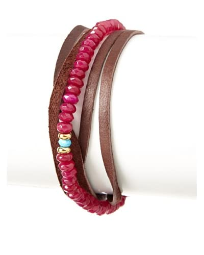 Shashi Ruby Rachel Wrap Bracelet