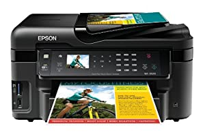 Epson WorkForce WF-3520 Wireless All-in-One Color Inkjet Printer, Copier, Scanner, 2-Sided Duplex, ADF, Fax. Prints from Tablet/Smartphone. AirPrint Compatible (C11CC33201)