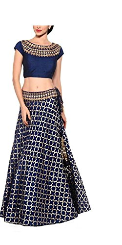 Kenil-Fabrics-navy-blue-silk-designer-collection-bollywood-style-designer-lehenga-choliheavy-embroidered-lehenga-cholipartywear-lehenga-choli-for-women