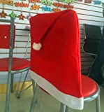 Pack of 4 Red Santa Hat Dining Chair Seat Covers Xmas Christmas Party Decoration Set