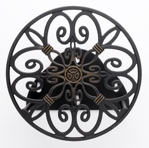 Liberty Garden Products 670 Decorative Anti-Rust Cast Aluminum Wall-Mounted Garden Hose Butler/Hanger with 125-Foot Capacity, Antique Patina Finish (Hose Holder Aluminum compare prices)