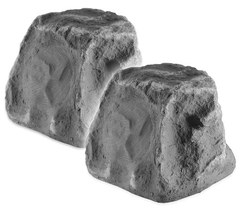 Osd Audio Rx550 5.25-Inch 2-Way Outdoor 100-Watt Rock Speaker Pair, Slate Grey