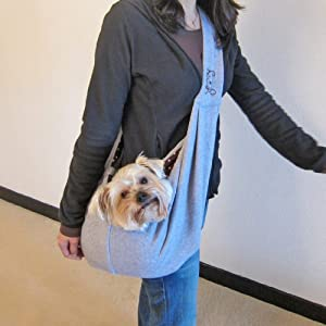 Alfie Pet by Petoga Couture - Chico Reversible Pet Sling Carrier - Color: Grey
