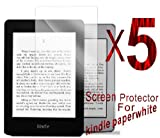 5 X Anti-scratch,reduced-glare,reduced-fingerprint matte finishing screen protector for kindle paperwhite