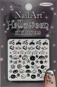 Nail-Art Sticker Halloween Design NSB-03-Multi Black