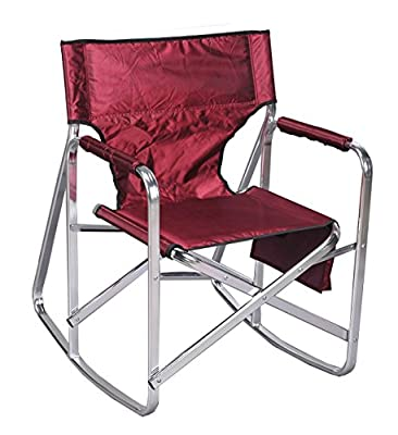 Ming's Mark SL1205-Burgundy Full Back Folding Rocking Director's Chair