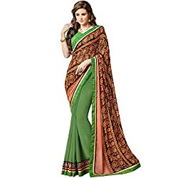 Vasu Saree New Green Georgette Designer Saree