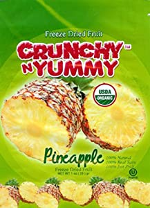 Crunchy N Yummy Organic Freeze Dried Fruit Pineapple ( Pack of 6)