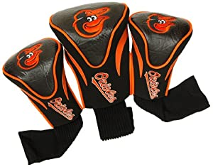 MLB Baltimore Orioles Contour Head Cover (Pack of 3), Black by Team Golf