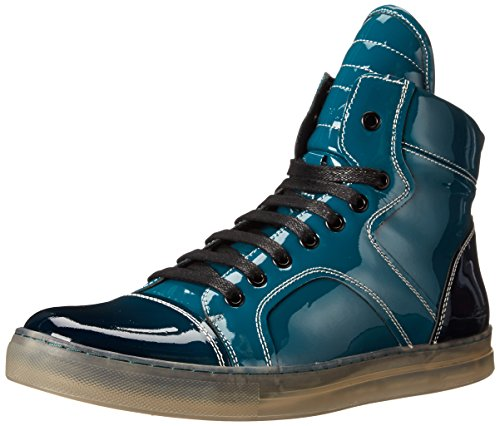 Kenneth Cole New York Men's Double Click Pa Fashion Sneaker, Teal, 8.5 M US