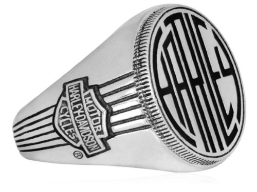 Harley-Davidson® MOD® Men's .925 Sterling Silver Monogram Ring. HDR0317