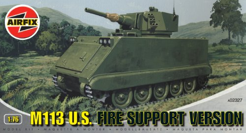 Airfix A02327 1:76 Scale M113 U.S. Fire Support Version Military Vehicles Classic Kit Series 2