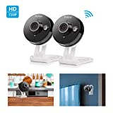Funlux 720p HD Wireless Smart Home Day Night Security Surveillance Camera (2 Pack)