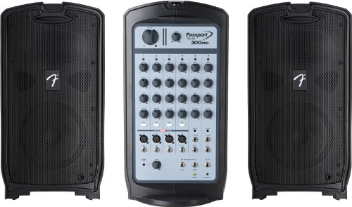 Fender Passport 300 Pro Pa System With Mixer And Speakers