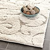 Safavieh Florida Shag Collection SG455-1113 Area Rug, 11-Feet by 15-Feet, Cream and Beige