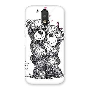 Ajay Enterprises Hung 2 Teddys Back Case Cover for Motorola Moto G4