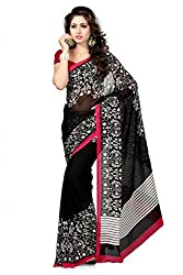 JMT Women's Georgette Saree ( JMT102 _ Black )