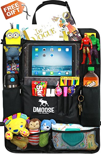Car Backseat Organizer with Tablet Holder for Kids and Toddlers by DMoose (24