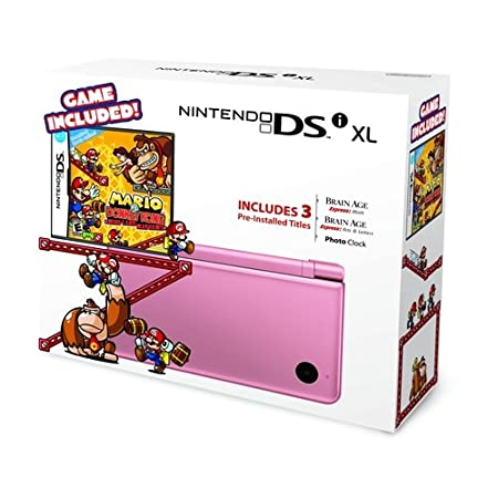 Nintendo DSi XL - Metallic Rose Bundle with Mario vs Donkey Kong Mini-Land Mayhem