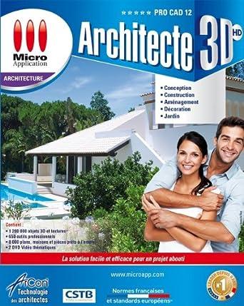 Architecte 3d hd pro cad edition 12 logiciels for Architecte 3d amazon