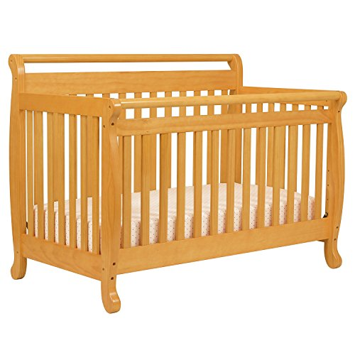 Emily 4-In-1 Convertible Crib With Toddler Rail - Oak front-925329