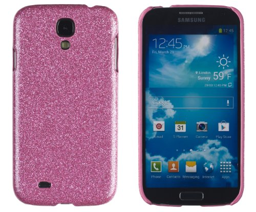 Premium Sparkles Bling Slim Hard Case For Samsung Galaxy S4, I9500 - Sparkles Can'T Fall Off - [Retail Packaging By Dandycase With Free Lcd Screen Cleaner] (Pink)