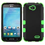 LG Optimus L90 Case, Rock Me Wireless (TM) 3 items Bundle - Screen Protector, 24K Gold Plating Electromagnetic Waves Blocking Sticker and Triple Layers Protective Case for LG Optimus L90 D419. (Black / Green)