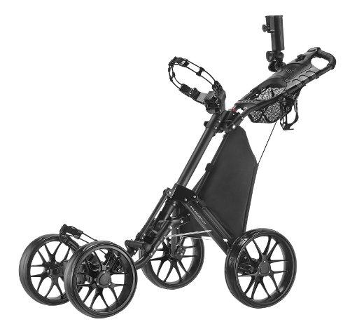CaddyTek One-Click Folding 4 Wheel Version 3 Golf Push Cart, Dark Grey (Golf Trolley compare prices)
