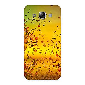 Flying Autumn Leaves Back Case Cover for Samsung Galaxy E5